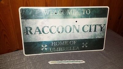 Nummernschild Welcome To Raccoon City Resident Evil Biohazard Metall Sign!only