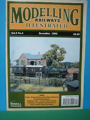 MODELLING RAILWAYS ILLUSTRATED ~ Vol 2 No 4 DECEMBER 1994   10th ISSUE SEE PIC'S