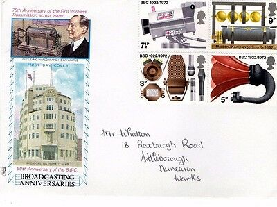 1972 Broadcasting Anniversaries With No Cds Philart Fdc From Collection S17