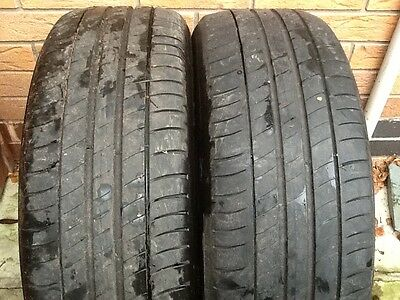 2x Michelin primacy 3 205/55/16 part worn tyres 5.5-6mm tread