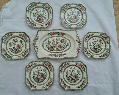 Perfect ~ Johnson Bros ~ INDIAN TREE ~  Sandwich Set ~ Perfect Condition~7 Piece