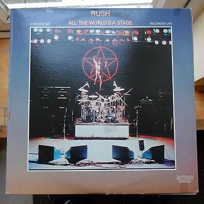 Classic Rock/pop Lp - Rush - All The Worls'S A Stage - Anthem Records