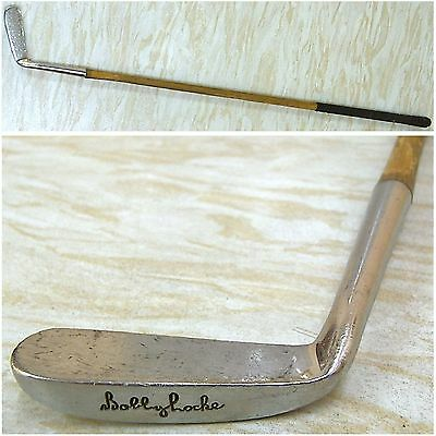 Vintage Hickory Shafted Bobby Locke Putter Golf Club
