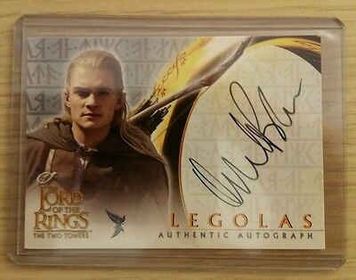 Orlando Bloom Legolas Lord Of The Rings Signed Topps Autograph Card