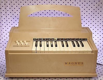 Vintage Magnus Jewel Chord Organ WORKING Mini Tabletop Music Teacher Made in USA