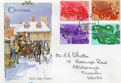 1975 Christmas With Coventry Cds Philart Fdc From Collection E15