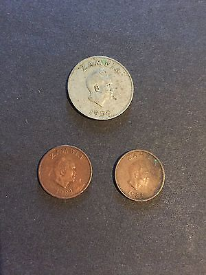 Zambia Coins - 1 & 10 Ngwee - 1983 & 1968