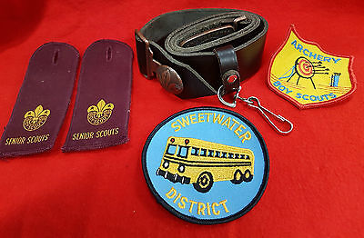 Australian Scout Belt Patches And Epaulettes