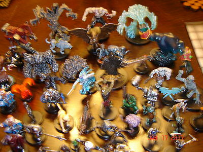 Dungeons + Dragons 50+ figures with cards, 2 maps and rule books  WOW