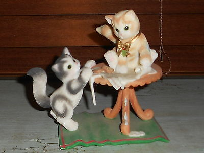 """Calico Kitten Figurine """"It takes a smart Cookie to Find the Milk LIMITED EDITION"""