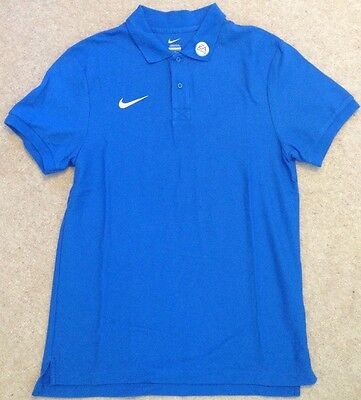 Nike 2016-17 PGMOL Premier League/EFL Referee Polo Shirt - Blue Medium (New)