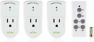 Century Wireless Remote Control Socket Electrical Outlet Switch Automation White