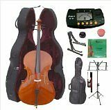 Merano 4/4 Size Cello with Hard Case with Bag and Bow+2 Sets