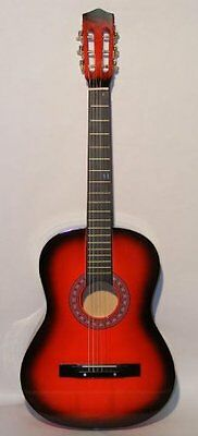 "38"" RED Acoustic Starter Guitar (7/8 Size) & DirectlyCheap(T"