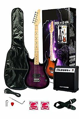 39 Inch PURPLE Electric Guitar and Amp Pack & Carrying Case