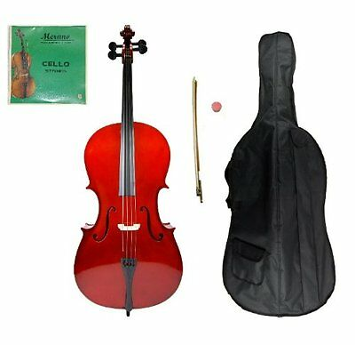 Crystalcello MC100 Full Size 4/4 Cello with Carrying Bag + B