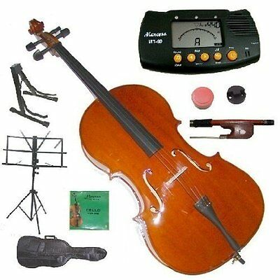 Merano 1/4 Size Student Cello with Bag and Bow+2 Sets of Str