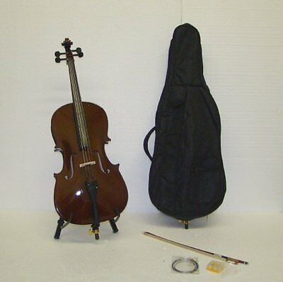 Crystalcello MC110 1/2 Size Cello with Carrying Bag + Bow +