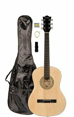 "38"" Inch Student Beginner Natural Acoustic Guitar with Carry"