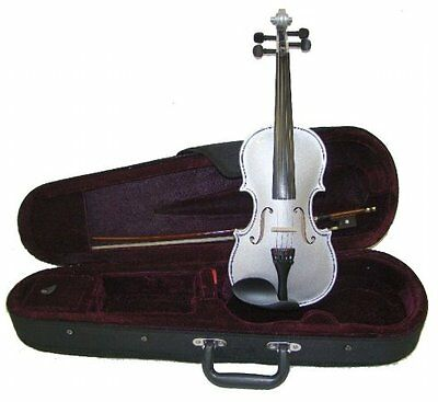 Merano MV300SV 4/4 Full Size Silver Violin with Case and Bow