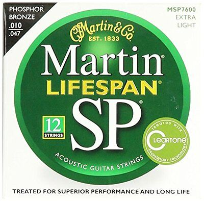 Martin MSP7600 SP Lifespan 92/8 Phosphor Bronze Acoustic Str