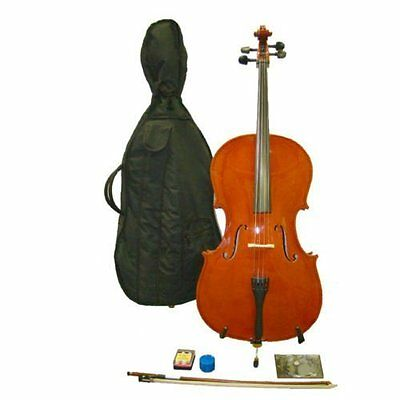 Crystalcello MC110 Full Size 4/4 Cello with Carrying Bag + Bow + Accessories