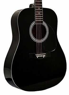 """41"""" Inch Full Size Black Handcrafted Steel String Dreadnough"""