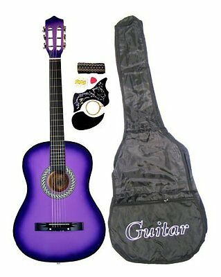 "38"" PURPLE Student Acoustic Guitar Starter Package, Guitar,"