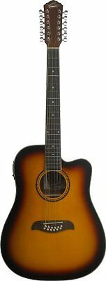 Oscar Schmidt OD312CETS 12-Strings Acoustic-Electric Guitar - Tobacco Sunburst