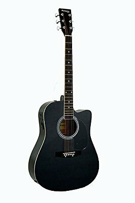 Full Size Black Cutaway Acoustic Guitar with Free Carrying B