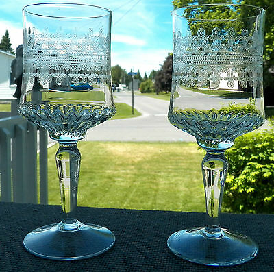 Very Lovely Set Of Crystal Stemware By Bryce Pattern 678-13 With Etched Scrolls