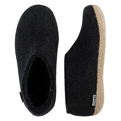 Glerups Men's Shoe Color Charcoal Slippers