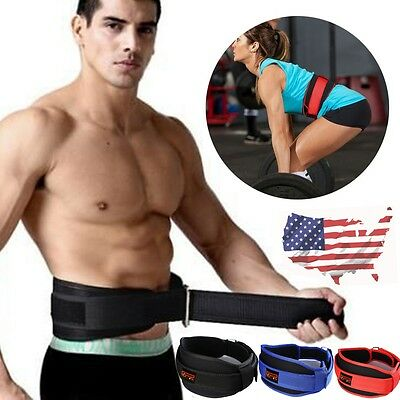 Fitness Bodybuilding Barbell Weight Lifting Belt Back Waist Support Training U1