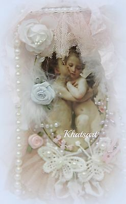 """Shabby Chic  """"Victorian Angel Cupid"""" Lace Hang Tag Valentine's Day, ELITE4u"""