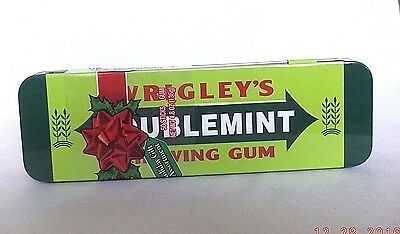 Wrigley's Doublemint Chewing Gum Collectible Hinged Tin w/ 10 packs Gum SEALED