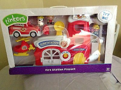 """tinkers"" Fire Station Set. Keep Your Toddler Amused For Hours. Bnib. 18 Mths Up"