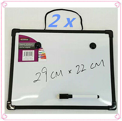 2 X Whiteboard With Bonus Magnetic Marker & Magnets Party Office Wedding Home