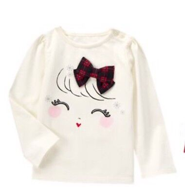Gymboree Girls Holiday Shop Deer Owl Red shirt Holiday Christmas Nwt 3t