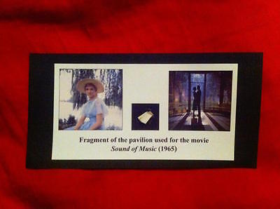 Original SOUND OF MUSIC prop CARD - FRAGMENT of LOCATION! Julie Andrews RELIC!