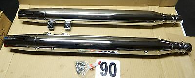 CYCLE SHACK MHD-289-290 EXHAUST 84-94 FLT MODELS w/ FLARED END PIPES MUFFLERS