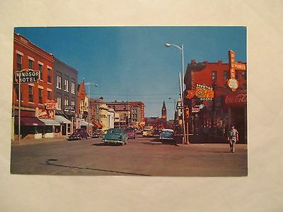 Capitol Avenue looking South Union Pacific depot Cheyenne Wyoming WY Postcard