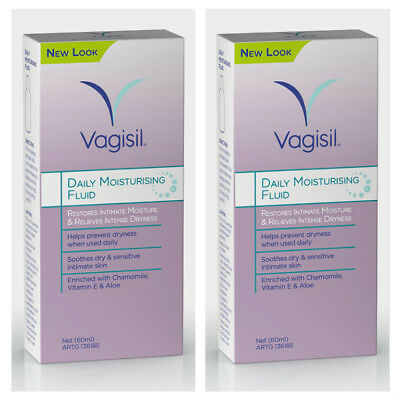 Vagisil Daily Moisturing Fluid 60ml X2 Two Buy Deal