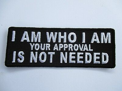 I am who I am Your..... Patch Sew/Iron - Lady Rider biker Men's Shed Motorcycle
