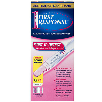 First Response Early Result Pregnancy Test 6+1 Test Pack