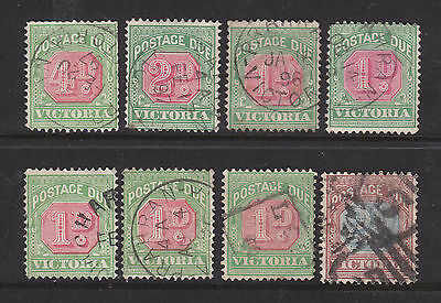 Victoria Postage Dues:  Small Lot  All With Minor Faults. Used