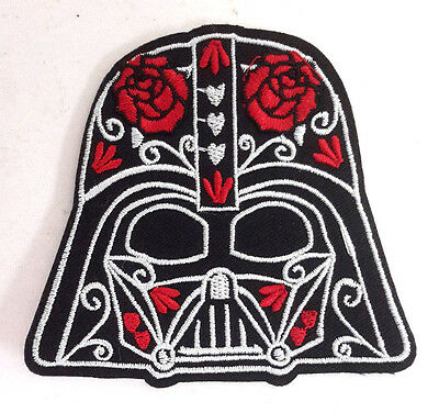 "Star Wars Darth Vader Helmet with Flowers 3"" Embroidered Patch (SWPA-FC-38)"