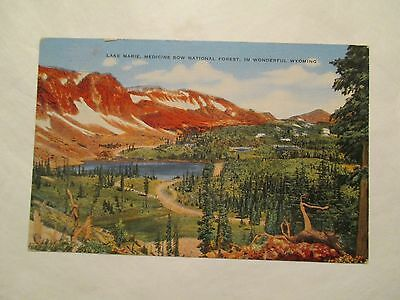 Lake Marie Medicine Bow national Forest Wyoming WY Postcard