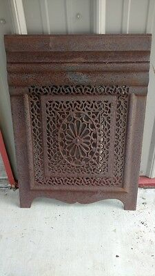 Antique Ornate Steam Punk Cast Iron Victorian Fireplace Summertime cover