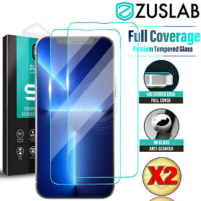 2X iPhone X XS Max XR 8 7 6 6S Plus 9H Tempered Glass Screen Protector For Apple