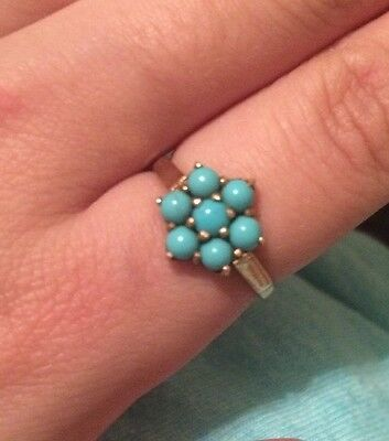 Vintage Persian Turquoise 9ct Gold Ring